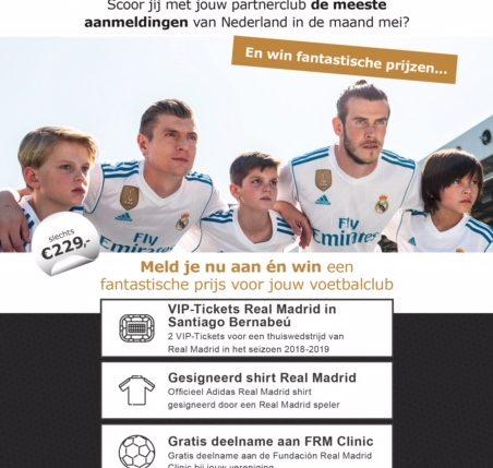 Fundación Real Madrid Clinics organiseert voetbalkamp bij onze voetbalclub!