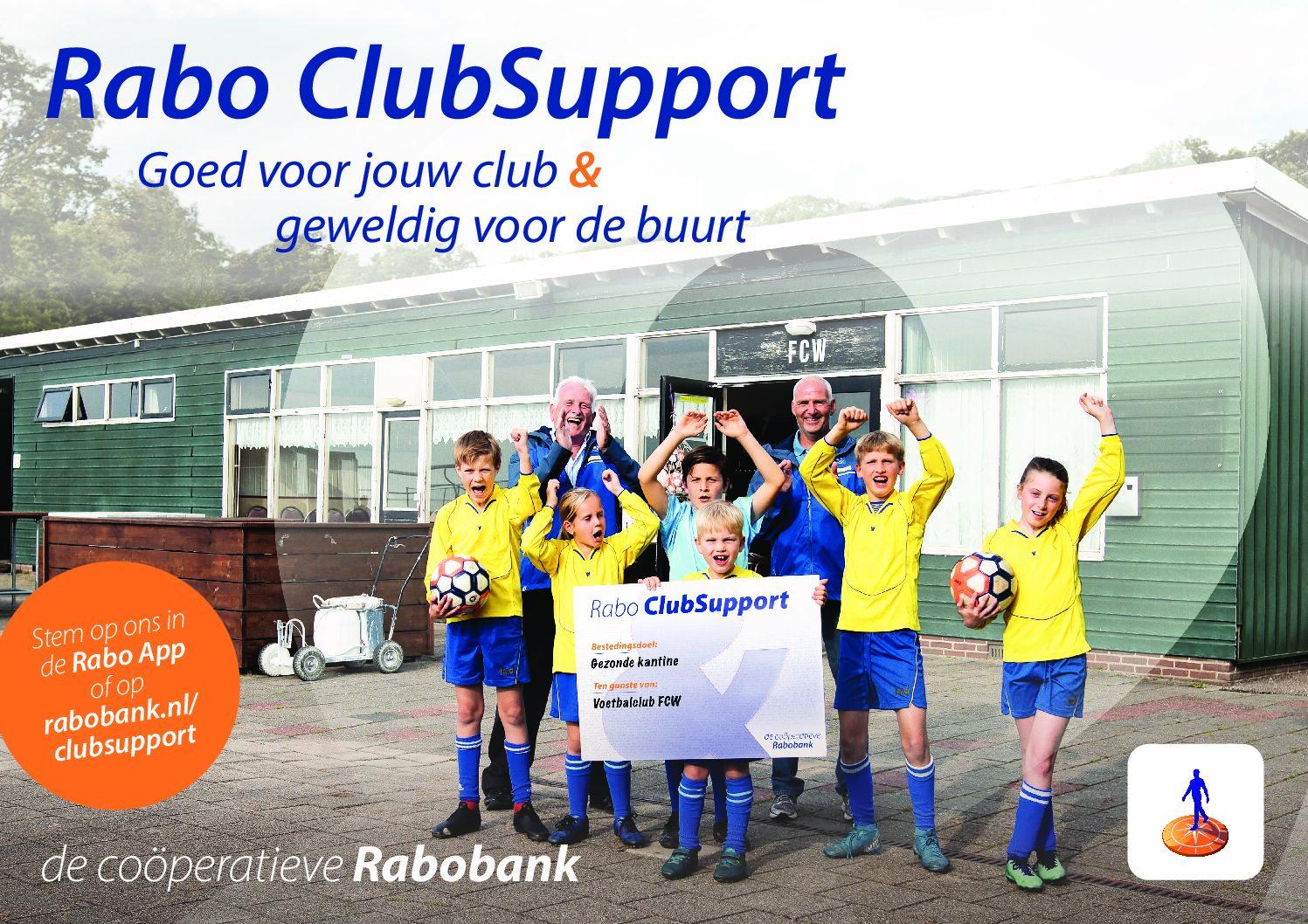 "Rabobank Clubkas Campagne ""Breng je stem uit op VV SNS en vul de clubkas"""